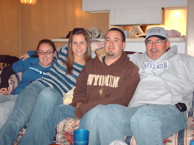 My dad, brother, sister & me